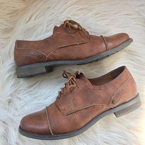 Crown Vintage Brown Oxford Shoes- Florentina